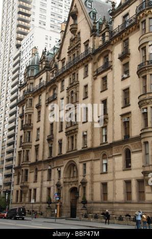 The Dakota Building (West 72nd St elevation), New York, where John Lennon was murdered in 1980.
