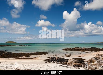 Eriskay beach, South Uist, Outer Hebrides, Scotland - Stock Photo