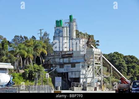 Cement plant for construction industry - Stock Photo