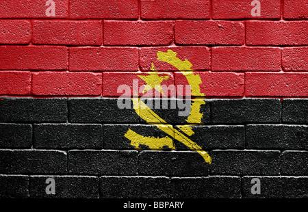 Flag of Angola - Stock Photo