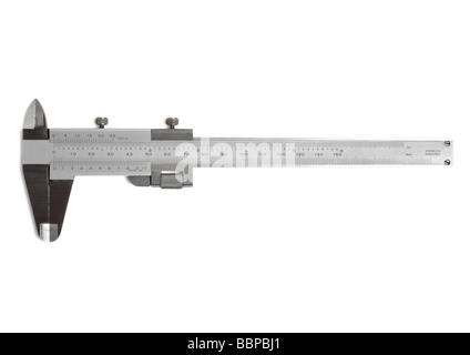 Vernier calliper on white background - Stock Photo