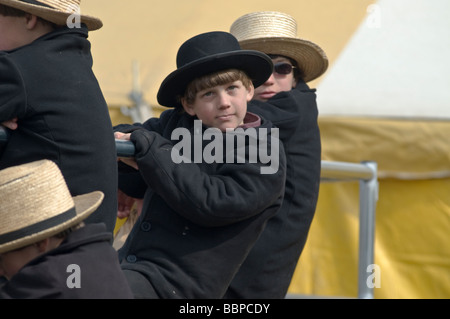 Amish mud sales spring auctions animals furniture farm equipment supplies craft items tools antiques volunteer fire - Stock Photo