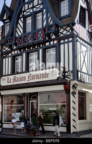 half timbered house trouville sur mer calvados normandy france stock photo royalty free. Black Bedroom Furniture Sets. Home Design Ideas