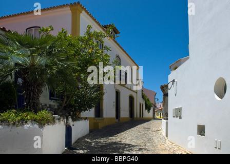 Back Streets in Ferragudo, Algarve Portugal. - Stock Photo