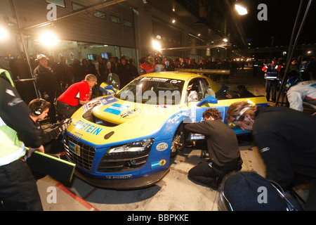 24-hour race at the Nurburgring race track, the Audi R8 of the team Phoenix Racing with Stuck, Hans-Joachim A - - Stock Photo