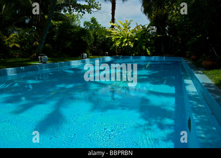 Swimming pool at Ernest Hemingway home museum 'Key West Florida' - Stock Photo