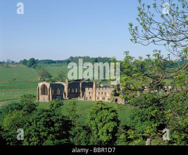 Ruins of Egglestone Abbey, near Barnard Castle, County Durham, England, UK. - Stock Photo