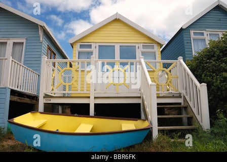 Large deluxe beach hut - Stock Photo