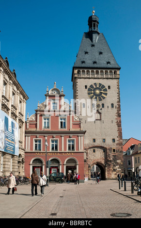 The Old Gate, Altpoertel, former western gate of the city of Speyer, one of the largest and most important town - Stock Photo
