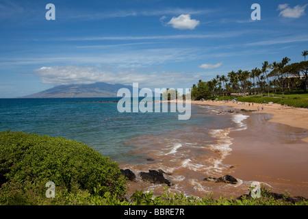 Ulua Beach Wailea Maui Hawaii - Stock Photo