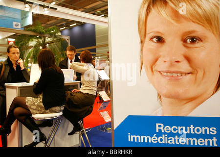 INTERVIEWS, APPLICATIONS, RESUMES, PUBLIC EMPLOYMENT FAIR, NATIONAL FAIR FOR RECRUITMENT INTO PROFESSIONS AND CAREERS - Stock Photo