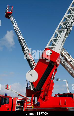 EXHIBITION OF FIREFIGHTING EQUIPMENT, 115TH NATIONAL CONGRESS OF FRENCH FIREFIGHTERS, RENNES, ILLE-ET-VILAINE (35), - Stock Photo