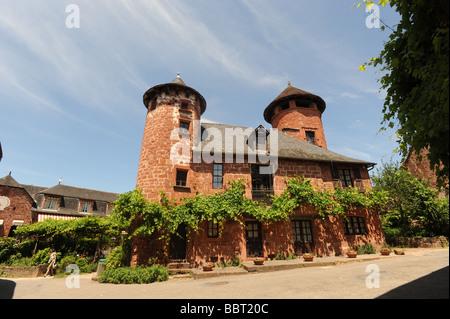 Collonges La Rouge Dordogne France - Stock Photo