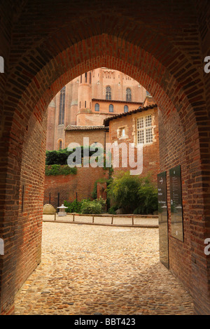 Gothic arch near Sainte Cecile Cathedral Albi Tarn Languedoc-Rousillon France - Stock Photo
