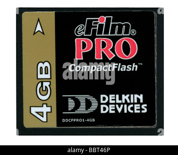 eFilm Pro Compact Flash memory card by Delkin Devices 4GB - Stock Photo