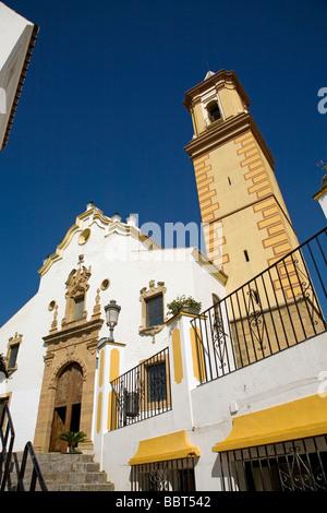 Church of Nuestra Señora de los Remedios in Estepona Malaga Sun Coast Andalusia Spain - Stock Photo