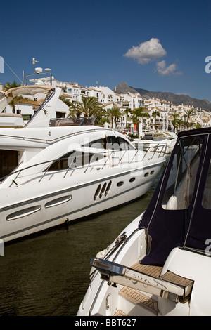 Jose Banus Marina in Marbella Malaga Sun Coast Andalusia Spain - Stock Photo