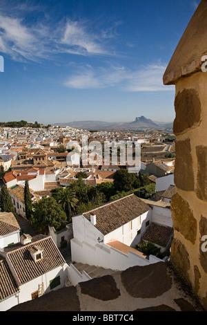 Vista Panorámica de Antequera Málaga Andalucía España Panoramic View of Antequera Malaga Andalusia Spain - Stock Photo