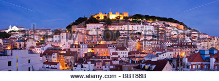 Castle of São Jorge, Alfama, Lisbon, Portugal. - Stock Photo