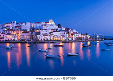 Ferragudo, Algarve, Portugal. - Stock Photo