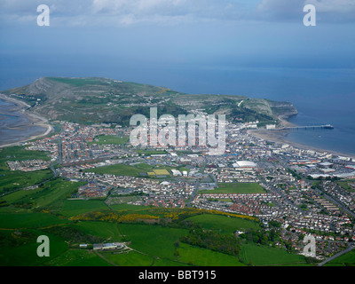 LLandudno and the Great Orme, North Wales, UK - Stock Photo