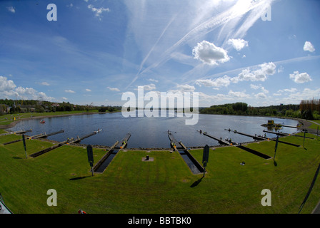 Rowing Championships at Strathclyde Park National Rowing Centre Scotland - Stock Photo