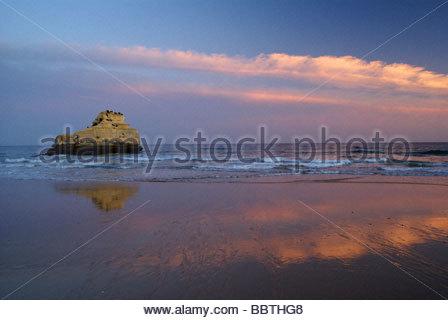 Praia da Rocha near Portimao on Algarve coast in Portugal - Stock Photo