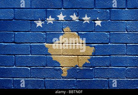 Flag of Kosovo - Stock Photo