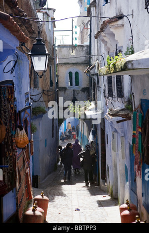 Chefchaouen Medina, Morocco, North Africa - Stock Photo