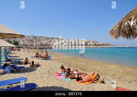 Sitia (Siteia) Beach, Crete, Greece, Europe - Stock Photo