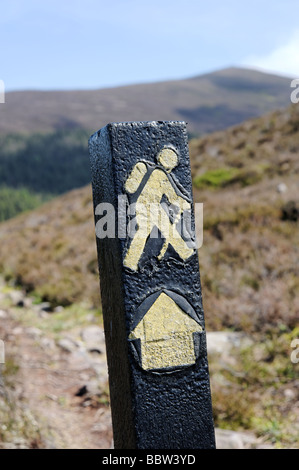 Hiking trail sign in the Vee valley region County Tipperary Republic of Ireland - Stock Photo