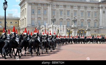 Trooping the colour parade in London, England - Stock Photo