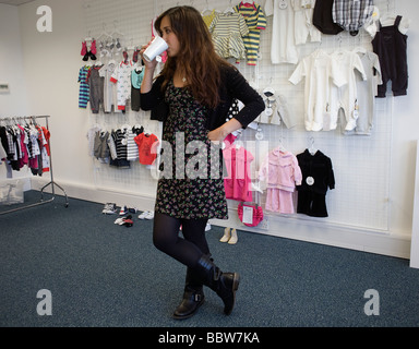 Personality Myleene Klass during promo filming before launch of her own collection at Mothercare s UK HQ - Stock Photo