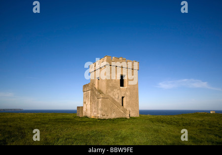 Ardmore Castle Watch Tower and Signal Station, Built 1867, Ardmore, Co Waterford Ireland - Stock Photo