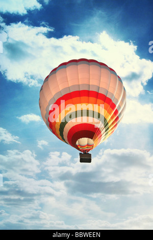 hot air ballon in the sky - Stock Photo