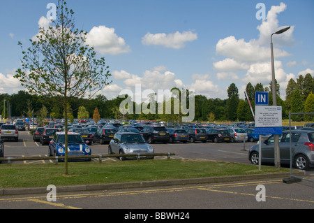 Public Car Park East Surrey NHS Hospital Redhill Surrey - Stock Photo