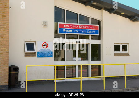 Entrance To The Emergency Department East Surrey NHS Hospital Redhill England - Stock Photo