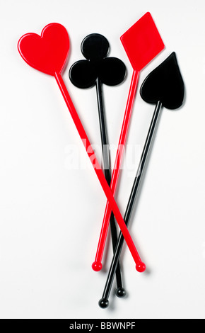 Plastic drink stirrer - Stock Photo
