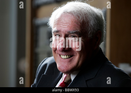 Former Prime Minister Sir Geoffrey Palmer, at his old school Nelson Boys College, Nelson, New Zealand - Stock Photo