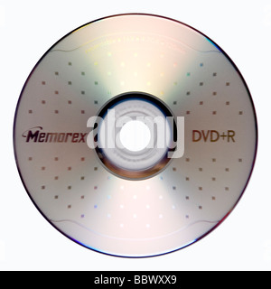 single sided DVD+R - Stock Photo