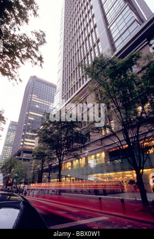 Cityscape of Marunouchi, Tokyo, Japan - Stock Photo