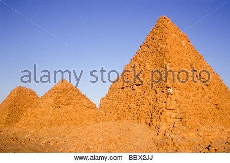 pyramids, nuri, sudan, africa - Stock Photo