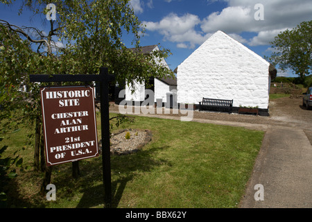 Ancestral home of Chester A Arthur 21st president of the united states arthur cottage cullybackey county antrim - Stock Photo