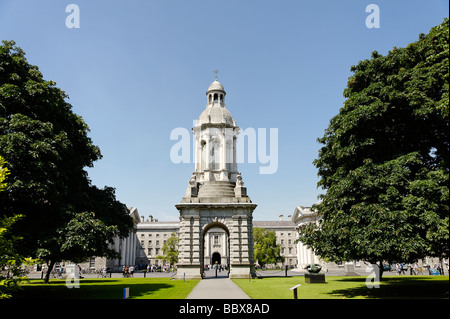 The Campanile in Trinity College grounds Dublin Republic of Ireland - Stock Photo