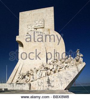 Padrao dos Descobrimentos - Lisboa | Monument to the Discoveries in the Belém parish of Lisbon - Portugal - Stock Photo