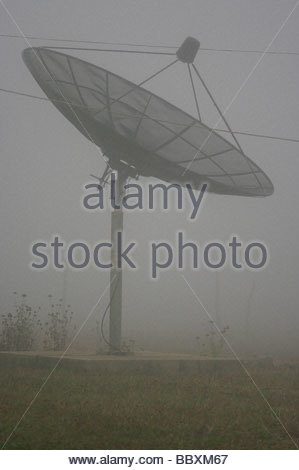 Satellite dish Mozambique Southern Africa - Stock Photo