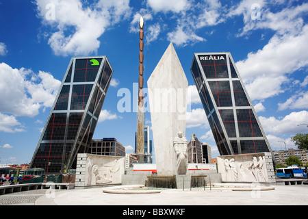 Plaza de Castilla Financial district, Madrid, Spain - Stock Photo
