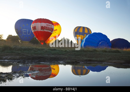 Hot Air Balloons Canberra ACT Australia - Stock Photo