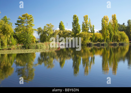 Autumn Colour Reflected in Nerang Pool Commonwealth Park Canberra ACT Australia