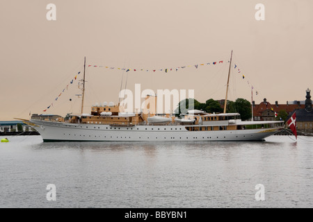 Denmark Copenhagen Royal yacht Dannebrog - Stock Photo